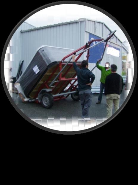 Remorque spadis 750 pour transport des spa - Distrimat
